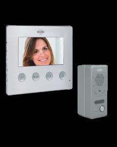 """Video Türsprechanlage mit 4,3"""" (11cm) Bildschirm, gebürstetes Aluminium, verdrahtet (DV424W)"""