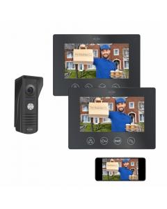 IP Wifi Deurintercom met 2 monitoren (DV50)