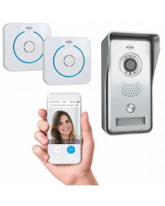 Wifi IP Video Deurbel – Met 2x draadloze deurgong (DVC040IP2)