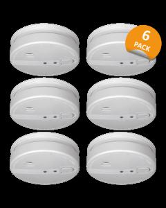 230 Volt verdrahtet vernetzbarer Rauchwarnmelder mit 5 Jahres Back-Up Batterie - 6-er Pack (FS1105P)