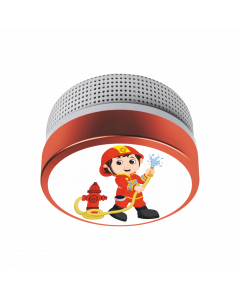 Mini Rauchwarnmelder 10 Jahres Batterie, Feuerwehrmann-Motiv (FS811016)