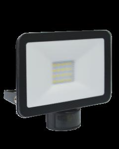 Design LED Buitenlamp met Bewegingsmelder 20W - Zwart (LF5020P)