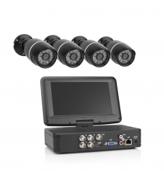 Kabelgebundenes Kamerasystem - mit Monitor - 4-Kanal-Recorder - Festplatte - 4 Kameras - HD (EL431DVR)
