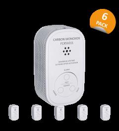 Koolmonoxidemelder - Compact Design - 10 jaar sensor - 6 Pack (FC4510)