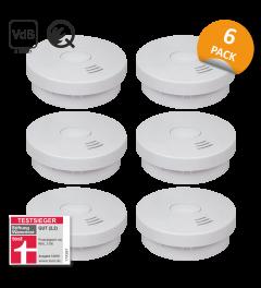Rookmelder met 10 jaar batterij – Q-Label, VDS en StiWa testwinnaar - 6 Pack (FS9010)