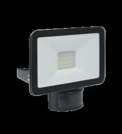 Design LED Buitenlamp met Bewegingsmelder - 10 Watt - Zwart (LF5010P)