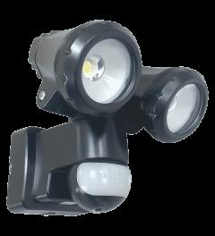 2-köpfige LED-Außenleuchte mit Bewegungsmelder 2x10W (LT3510P)